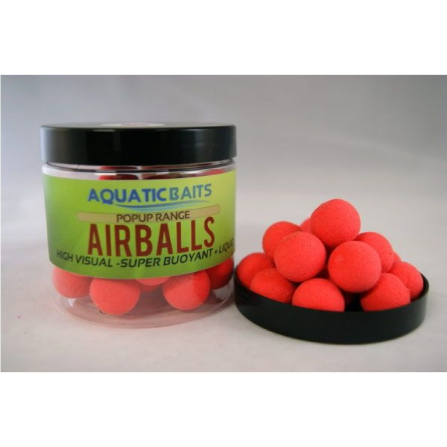 Aquatic Baits AirBalls Red 20mm 60g + Strawberry Liquid