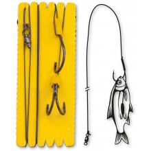 #6/0 Bouy and Boat Ghost Double Hook Rig L 100kg 1 Stück 1,40m