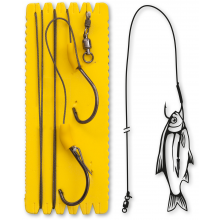 #6/0 Bouy and Boat Ghost Single Hook Rig L 100kg 1 Stück 1,40m